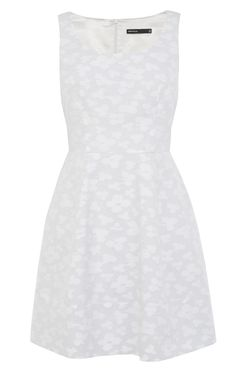 Cotton jacquard full skirted dress | Luxury Women's sportsluxe | Karen Millen