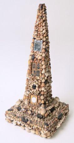 Victorian Shell Encrusted Obelisk - Rafael Osona Auctions Nantucket, MA