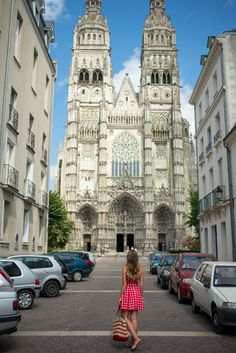 visiting Saint Gatien's Cathedral and stopping for some ice cream in the gardens of Musée des Beaux-Arts