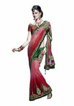 Fabdeal Women Indian Designer Printed Saree Shaded Red by Fabdeal, http://www.amazon.ca/dp/B00FS75A8W/ref=cm_sw_r_pi_dp_sNOptb1QPJ91J