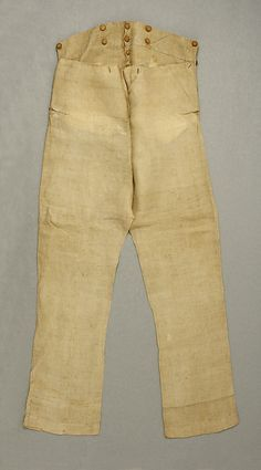Date: 1830s Culture: American Medium: linen Dimensions: Length at Side Seam: 48 in. (121.9 cm)
