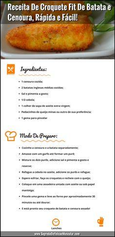 Receita De Croquete Fitness De Batata e Cenoura