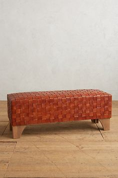 Leather Loom Bench #anthropologie