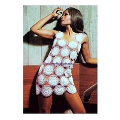 INSTANT DOWNLOAD PDF Vintage Crochet Pattern  Mini Tunic Dress Beach Cover Up   1970s Retro Pattern for sale on Etsy