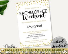 Bachelorette Weekend Invitation Bridal Shower Bachelorette Weekend Invitation Confetti Bridal Shower Bachelorette Weekend Invitation CZXE5 - Digital Product #bride #bridal
