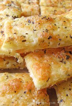 Easy Cheesy Garlic Breadsticks  | www.sugarapron.com | #recipes #garlic #breadsticks