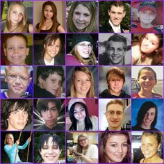 the faces of the victims of bullying // a good start for a classroom conversation on bullying