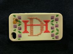 Used not 1 but 4 pins to create my new cross stitched iPhone case