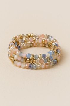Maurices Gray Beaded Bracelet FY927SLe