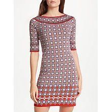 Buy Max Studio Elbow Sleeve Printed Dress, Red/Multi Online at johnlewis.com