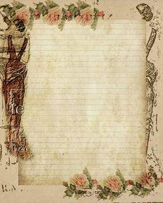 Lady in Paris Stationary for Journaling ~ Glenda's World
