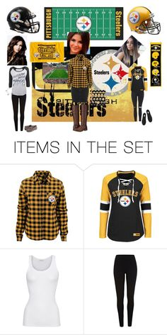 """Steeler Nation women geared up for the game😘❤️💄💋🏟🏈"" by chrisiggy ❤ liked on Polyvore featuring art"