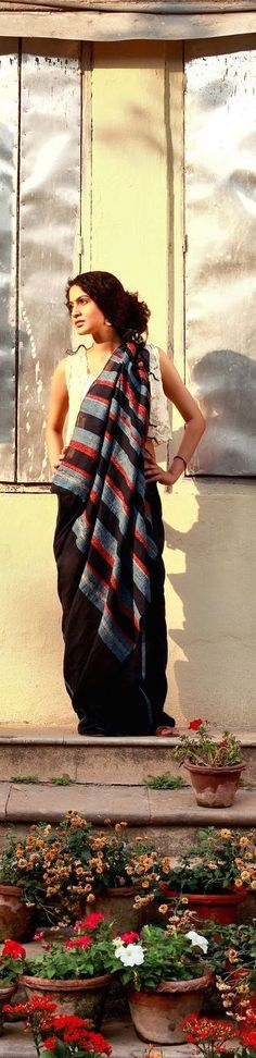 Handwoven Khesh saree - Sienna Collection - Photography by Kunal Basu -  original pin by @webjournal