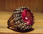 Fun and Funky Vintage Costume Ring