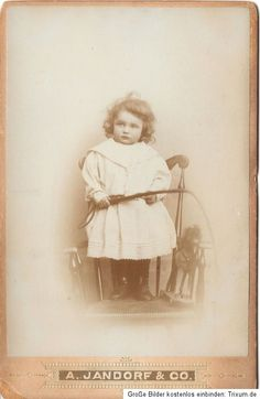 Vintage cabinet card of German toddler