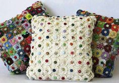 Use leftover fabric from a quilt to make this coordinating pillow. Great use for scraps.