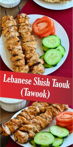 This is such an easy and flavorful, low cal, high protein dish- chicken on a stick. I like the sounds of that! And I totally heart this recipe. Middle East Food, Middle Eastern Dishes, Middle Eastern Recipes, Poulet Shish Taouk, Shish Tawook, Easy Cooking, Cooking Recipes, Healthy Recipes, Healthy Lebanese Recipes