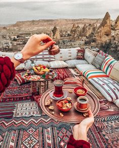 The only way to stay awake is Turkish coffee or strong tea ☕️ Meeting every … The only way to stay awake is Turkish coffee or strong tea ☕️ Meeting every sunrise here ❤️ Good morning from Cappadocia ✨ Wearing Cathy Luse… Places To Travel, Places To Go, Istanbul Travel, Cappadocia Turkey, Morocco Travel, Turkey Travel, How To Stay Awake, Turkish Coffee, Travel Goals