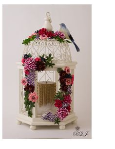 Quilled Bird Cage By Artist Motoko Nakatani