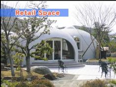 Must see--Expanded Polystyrene Made Dome House (even though the image shows retail space). Highly customizable.  Would love one right now.