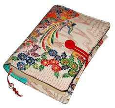 Handmade Bible Cover Vintage Kimono Silk by WhimsyWooDesigns