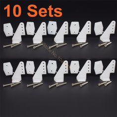 On Sale 10 Sets Nylon Plastic Horns 17.5x26 4 holes L17.5xW13xH26 Screws For RC Model Airplane Parts KT Aeromodelling Remote Control DIY
