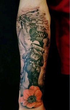 Men'S military tattoo tribute forearm and wrist sleeve tattoos, watercolor tattoo, tattoo Army Tattoos, Military Tattoos, Warrior Tattoos, Remembrance Tattoos, Memorial Tattoos, Forearm Tattoos, Body Art Tattoos, Trendy Tattoos, Cool Tattoos