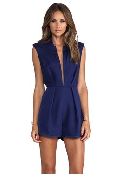 love this chic blue romper