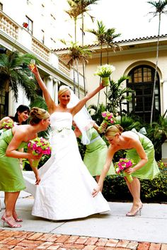 pink and green...just like my wedding!!  And everyone thought I was a little crazy...I was simply starting the craze!!
