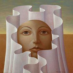 George Underwood - British Surrealist Painter - 'Sunrise'
