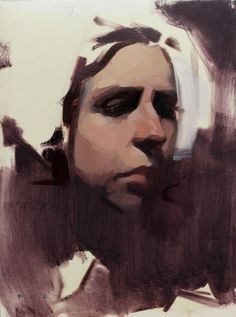"""Torrey in the Studio, oil on Arches oil paper, 9""""x12""""  private collection"""