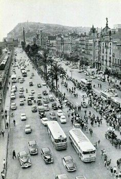 Barcelona, 1961 Passeig de Colon.
