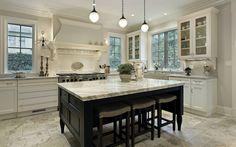 black-kitchen-island-base-marble-on-top