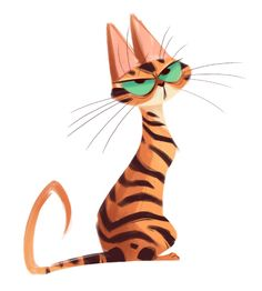 Art by Heather Nesheim Cat Character, Character Design, Chat Oriental, Cat Doodle, Art Mignon, Cat Sketch, Arte Sketchbook, Art Et Illustration, Cat Drawing