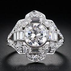 1.67 Carat Art Deco Diamond Ring, ca. 1930