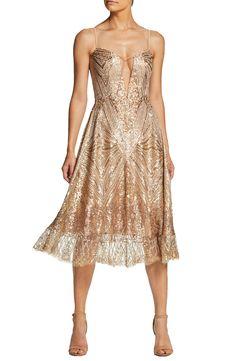 c6369d66c23c6b Dress the Population Leona Art Deco Sequin Fit   Flare Dress