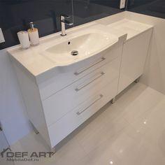 mobila baie mdf cu picioare Vanity, Bathroom, Vanity Area, Bath Room, Lowboy, Dressing Tables, Bathrooms, Single Vanities, Bath