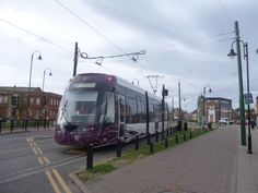 New Bombardier Tram on first day of operation on Fylde Coast, April 4th 2012.    Fleetwood, Fisherman's Walk