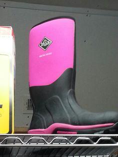 Pink Muck boots!!! :)