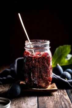 A moodily lit photo of a jar of vanilla fig jam. Fig Season, Fig Tart, Fresh Figs, Charcuterie Board, Chocolate Covered, Food Photography, Vanilla, Brunch, Jar