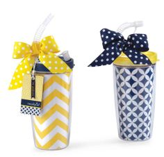 Chevron Insulated Tumbler with straw // $11.50