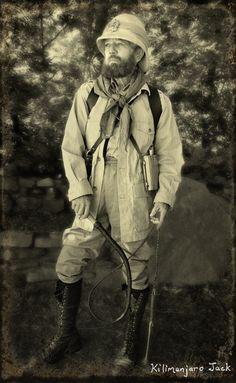 Gypsy Jack's Camping Journal – Earnest Hemingway Safari Costume, Earnest Hemingway, Pith Helmet, Vintage Safari, Pulp, Neo Victorian, Safari Theme, African Safari, Tarzan