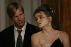 Still of Helena Bonham Carter and Aaron Eckhart (2005)