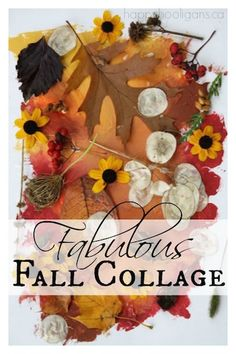 Fabulous Fall Collage - Terrific fall craft for toddlers and preschoolers!  Take your kids for a nature walk, and create art with your findings!  You'll love the easy, mess-free paint technique we used to make the back-drops! - Happy Hooligans