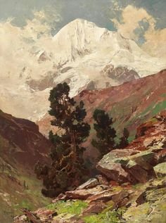 Best Landscaping Companies Near Me Vintage Landscape, Landscape Art, Landscape Paintings, Classic Paintings, Old Paintings, Acrylic Painting Inspiration, Mountain Pictures, Art Impressions, Artist Painting