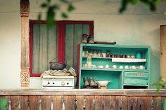 Vintage House Verandah With Wooden Closet