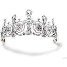Diadémok, tiarák Diadem, tiara ❤ liked on Polyvore featuring accessories, hair accessories, tiaras, crowns, crown tiara and tiara crown
