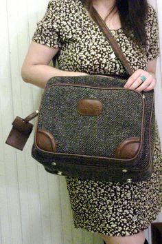 Tweed Luggage Carry On