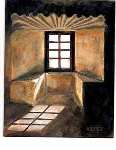 """""""Texas Window"""" - Original Fine Art for Sale - � Judith Elder"""