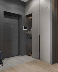 Entrance Hall Furniture, Home Entrance Decor, House Entrance, Kitchen Room Design, Home Room Design, Home Interior Design, House Design, Interior Architecture, Wardrobe Door Designs